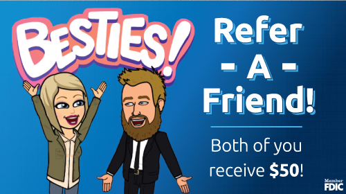 Refer a friend bitmoji promotion