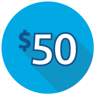 Earn $50 icon