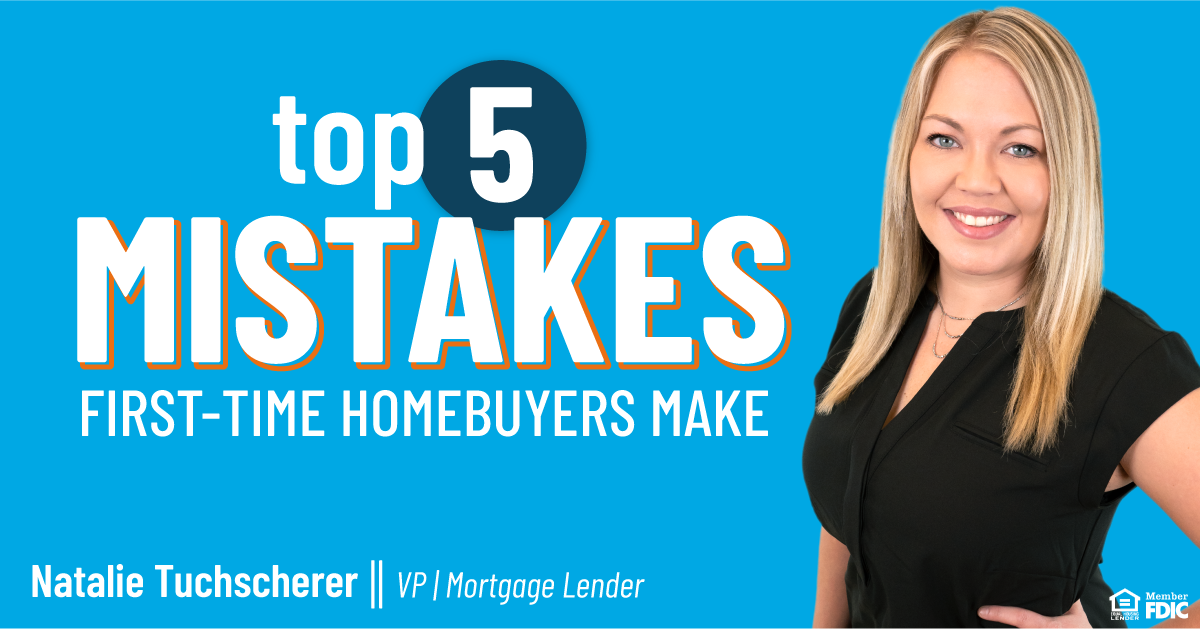 Here are five first-time homebuyer mistakes that you should avoid!